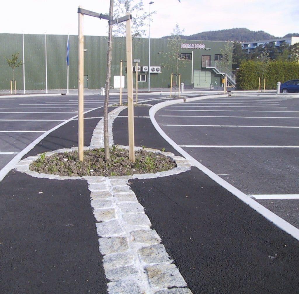 Asfaltering parkeringsplass Bergen