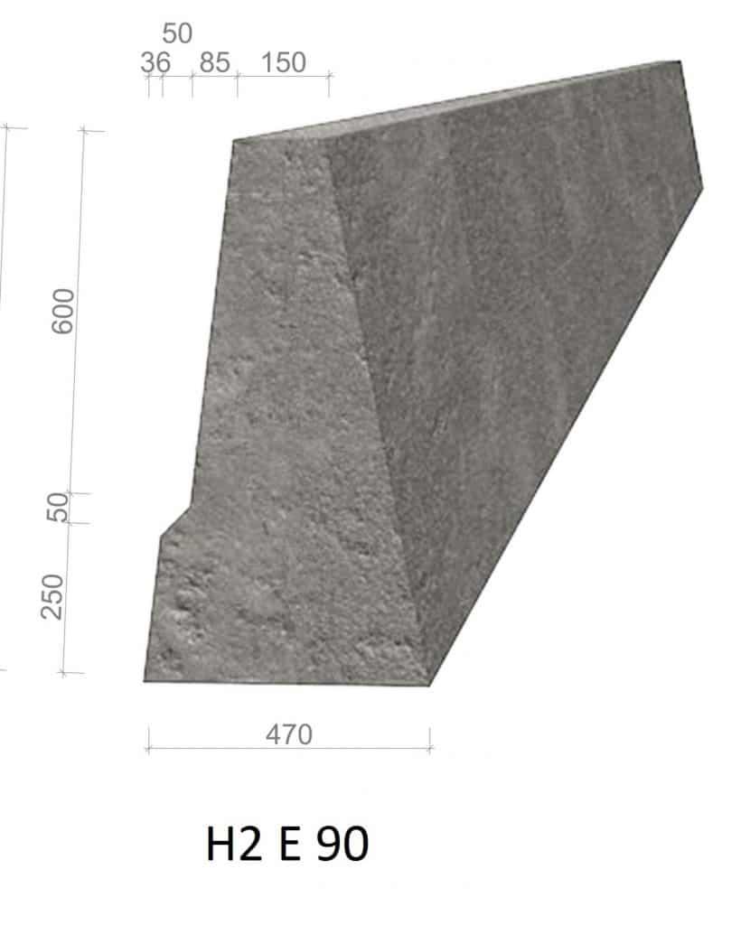 betongrekkverk H2 E 90
